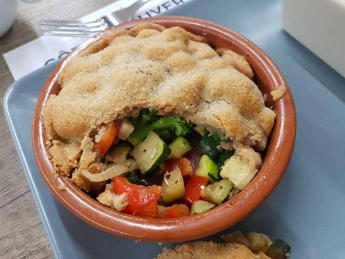 Crumble de légumes au cantal